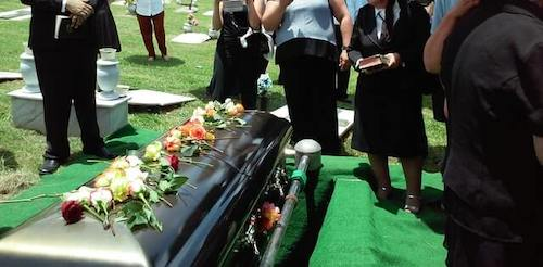 group of people in funeral